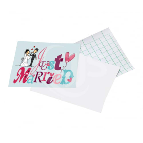 Adhesive stickers for dye sublimation