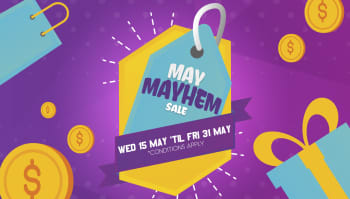 HUGE May Mayhem sale on now!