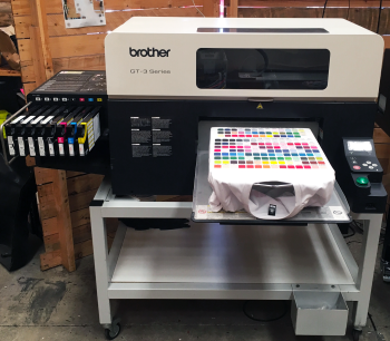 Brother GT Series DTG Printer - GT-381 running as a GT-341