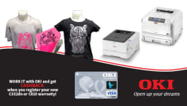 Make March the month to purchase an OKI printer and receive up to $100 cashback