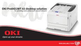 Latest OKI A3 white toner printer available now