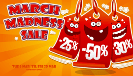 GJS' March Madness sale is on now!
