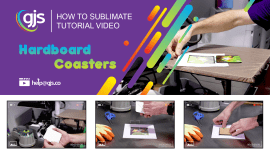 How to sublimate hardboard coasters