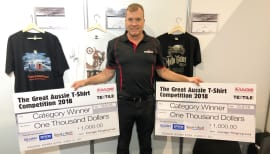 Sportzprint wins DTG print awards with Brother GTX