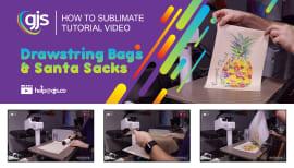How to sublimate drawstring bags & Santa sacks