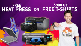 FREE heat press valued at $1,500!