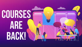 In-person courses are back!