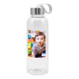 Glass Drink Bottle w/White Patch