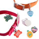 Unisub Metal Pet Tags / ID Pendants - Gloss White