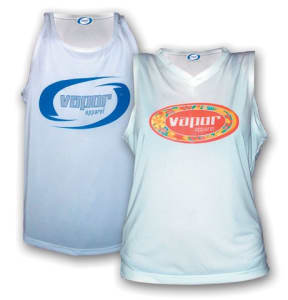 Mens Running Singlet - White