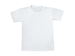 T-Shirt - White Polyester Outside/Cotton Inside