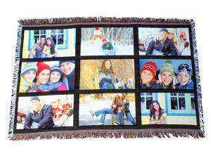 Sublimatable Throw Blanket with Nine Printable Panels