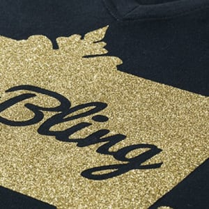 GJS Bling-Flex Heat Transfer Vinyl with Metallic Effect