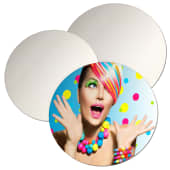 ChromaLuxe Metal Circular Panels - Gloss White