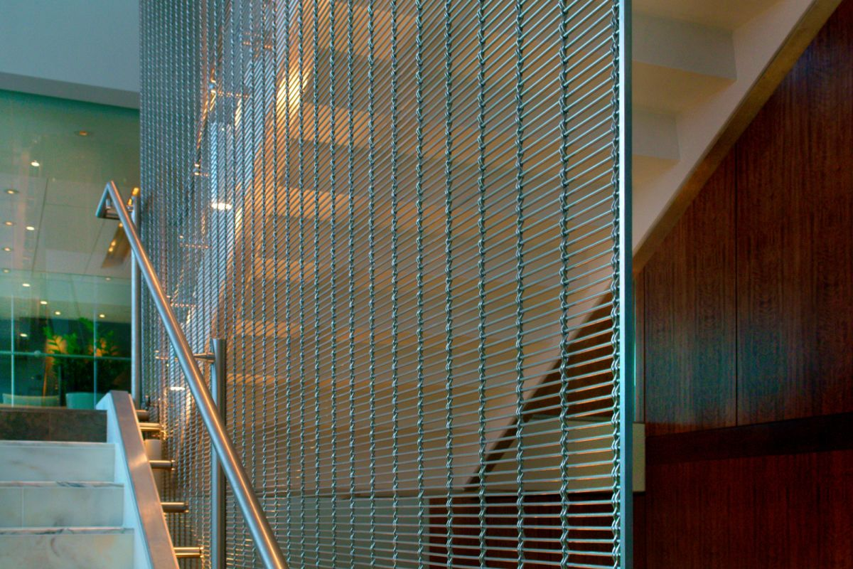 Safety and design with stainless steel mesh: interior ...