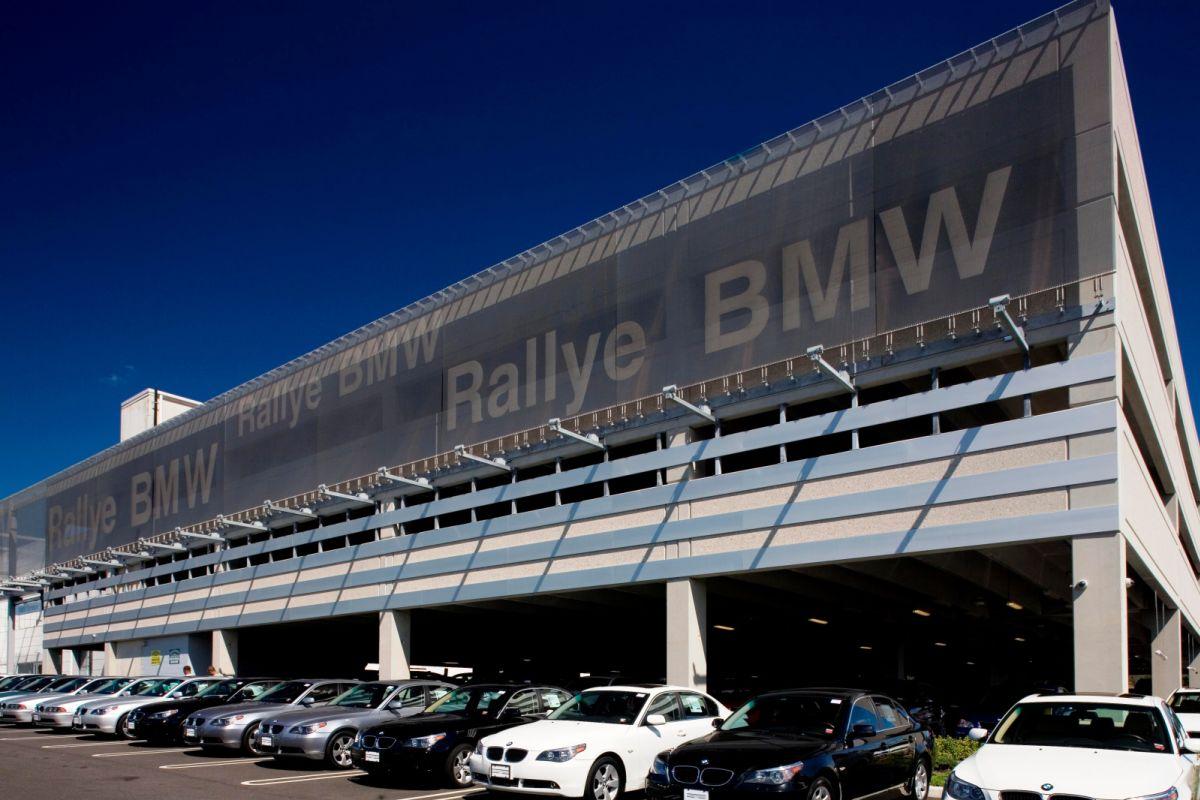 Façade Cladding With Logo Bmw Car Dealership In New York Gkd Global