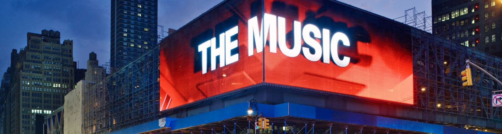 Transparent media façade highlights famous bus terminal in New York City