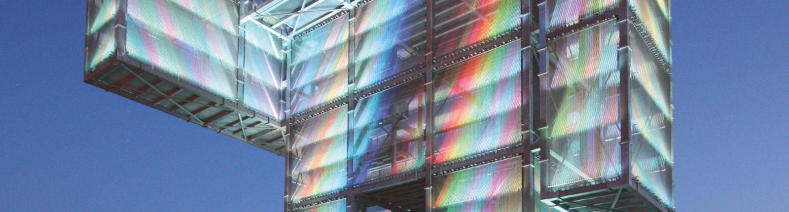 Transparent media façade and viewing platform – the Indemann