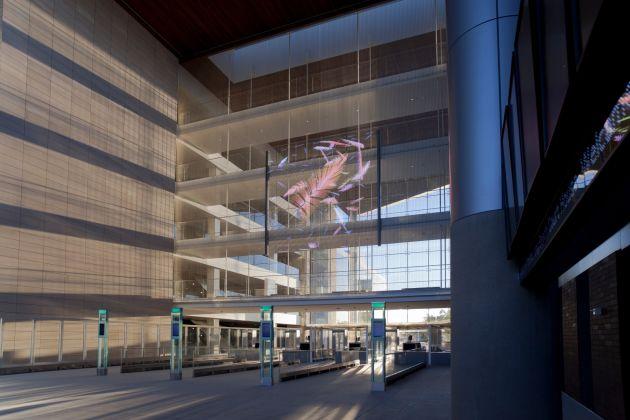 Transparente Medienfassade im Long Beach Gerichtsgebäude