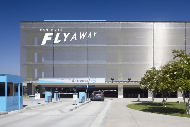 Architectural mesh by GKD: solar protection façade at Van Nuys Airport