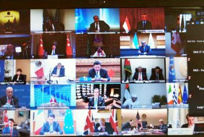 he G20 Extraordinary Virtual Leaders' Summit on coronavirus