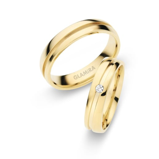 Order Yellow Gold Wedding Rings GLAMIRAcom
