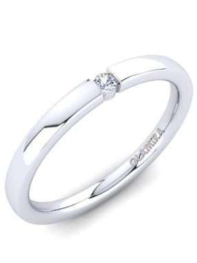 GLAMIRA Ring Alexis 0.03crt
