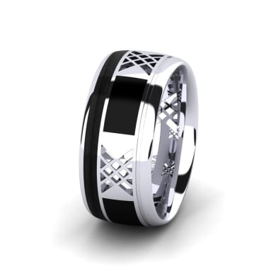 Men's Ring Confident Flame 10 mm