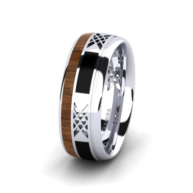 Men's Ring Confident Flame 8 mm