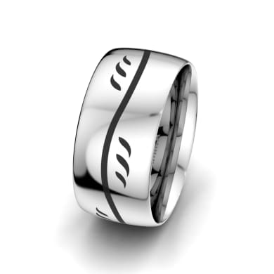 Men's Ring Essential Flower 10 mm