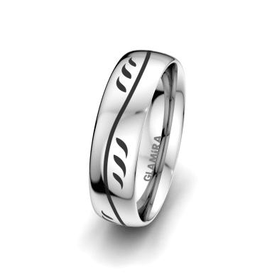 Men's Ring Essential Flower 6 mm