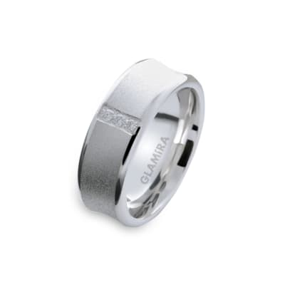 Damenring Silver & Design Light