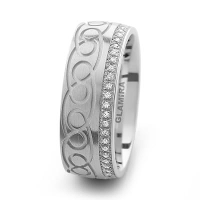 Damenring Silver & Design Crafty