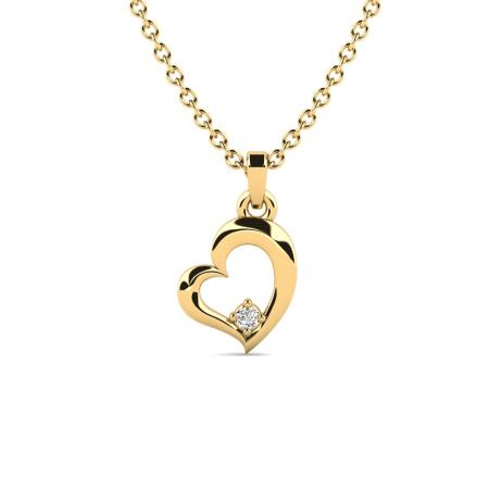 Gratis Weihnachtsgeschenk - Diamant Herz-Halskette