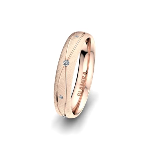Women's Ring Romantic Shape 4 mm
