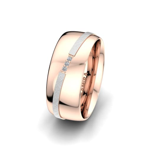 Damenring Romantic Line 8 mm