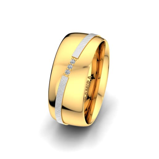 Women's Ring Romantic Line 8 mm