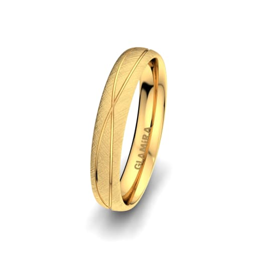 Men's Ring Romantic Shape 4 mm