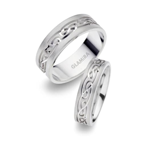 Cumpărați Alb Argint Verighete Glamiraro