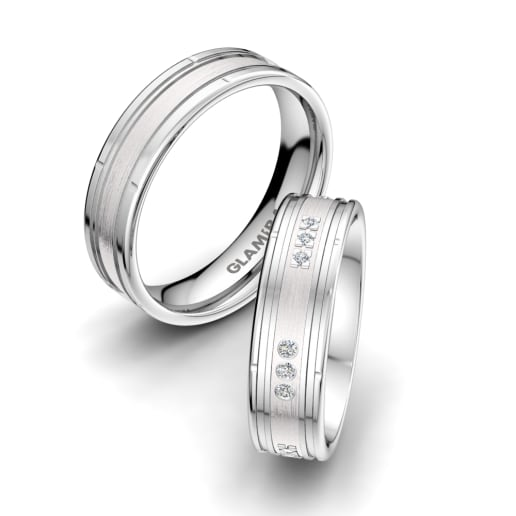 4f55ae0c0b5 Order 950 Platinum Wedding Rings | GLAMIRA.in