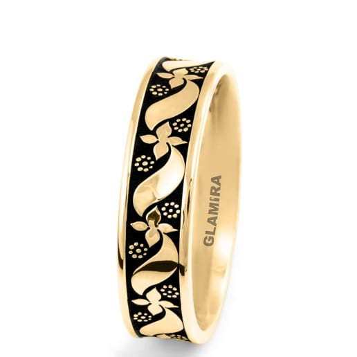 Men's Ring Ornate Heart Basic
