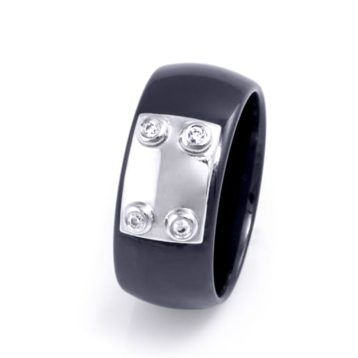 Women's ring Ceramic Line