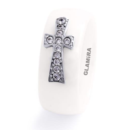 Anel femininos Ceramic Cross