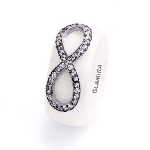 Women's ring Ceramic Star
