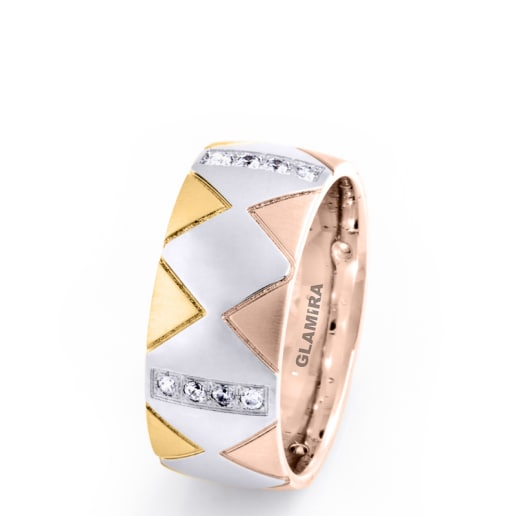Women's ring Elegant Pyramid