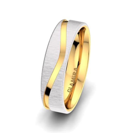 Anillo de hombre Bright Feather 6 mm
