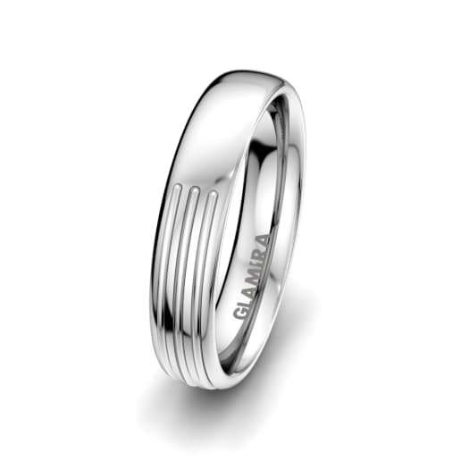 Men's Ring White Lily 5 mm
