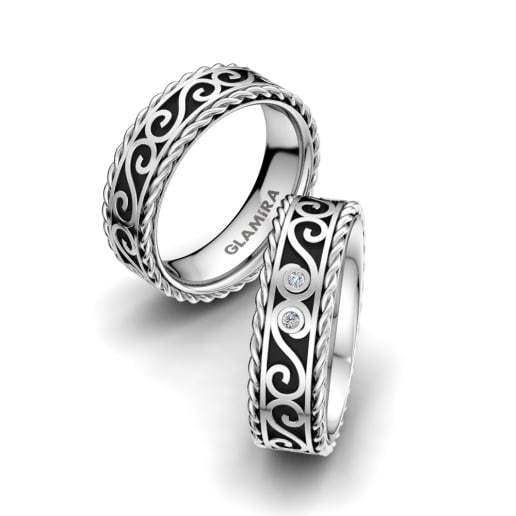 Order White Gold Wedding Rings | GLAMIRA com
