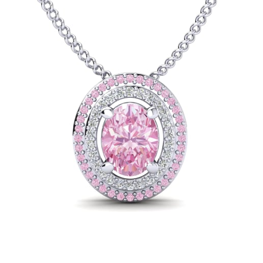 shop blaze pendant diamond shaped pink heart necklace
