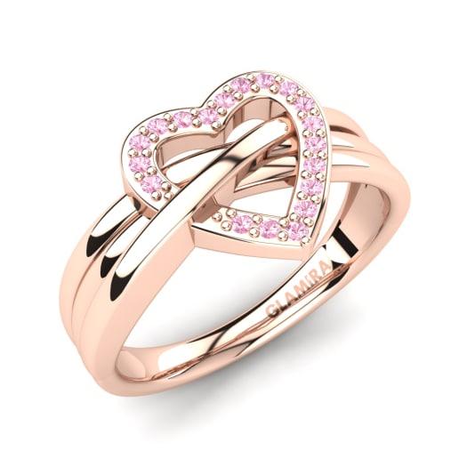 förlovningsring rosa sten